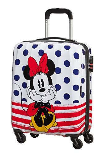 American Tourister Disney Legends - Spinner S, Bagaglio per bambini, 55 cm, 36 L, Multicolore (Minnie Dots)