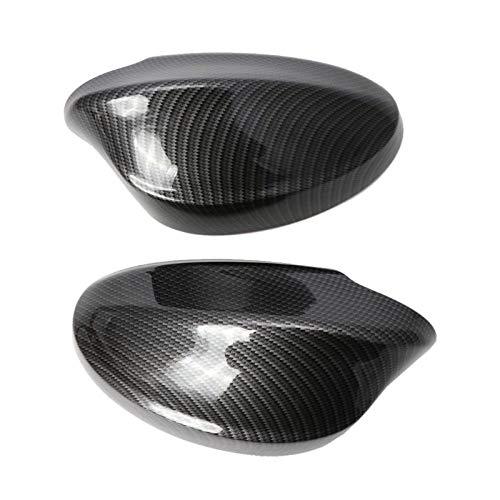 DHFBS 2 stks achteruitkijkspiegel covers zijspiegel cap koolstofvezel patroon abs shell, voor bmw e90 / e91 / 330i / 335i / 2005-2008