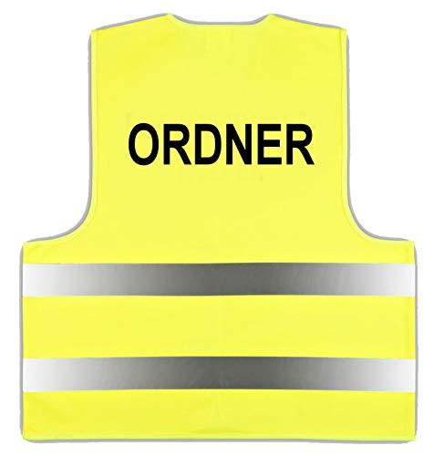 10 Stück Warnweste Gelb Gr. XL/XXL Ordner easyMesh® Signalweste ISO20471 (10)