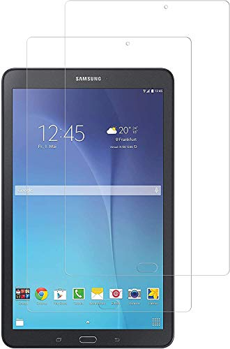WEOFUN 2 Pack Screen Protector Samsung Galaxy Tab E 9.6 T560 T561, Tempered Glass for Samsung Galaxy Tab E 9.6 Tablet SM-T560 T561 Glass Film [0.33mm, 9H, Bubble-Free, Scratch Resist]