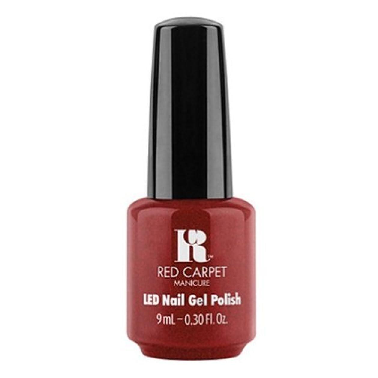 セットアップ感謝祭解凍する、雪解け、霜解けRed Carpet Manicure - LED Nail Gel Polish - Rapturous in Red - 0.3oz / 9ml