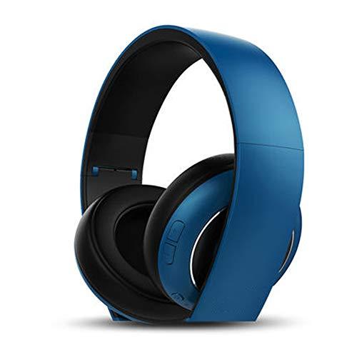 Auriculares Bluetooth sobre la Oreja, Auriculares inalámbricos estéreo con micrófono, Auriculares estéreo con Cable Buit en el micrófono para teléfono Celular, PC, TV, PC, Peso Ligero para prolo