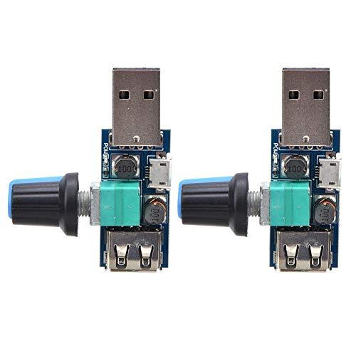Dgtrhted USB Fan Controller Fan Controller USB Fan Speed Controller,2pcs USB-Ventilator Speed Controller DC4 12V 5W Fan Drehzahlregler for Office Home