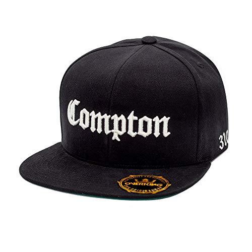 Boné Overking Aba Reta Snapback Compton Preto