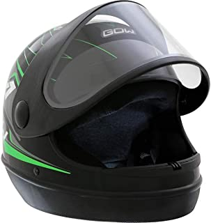 X Capacete Interlagos X1 Preto/Verde Neon Gow 56