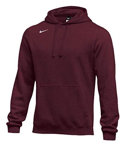 Nike Men's Pullover Fleece Club Hoodie Dark Maroon X-Large