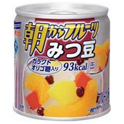 はごろもフーズ 朝からフルーツ みつ豆190g缶×24個入×(2ケース)