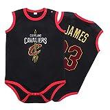 Jersey de baloncesto para bebés y niños pequeños, Cavaliers # 23 James sin mangas de baloncesto Jerseys Traje-negro-90(cm)