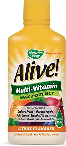 Nature's Way Alive! Multi-vitamin Max Potency Citrus Flavor 30 Oz. (Pack Of 2)
