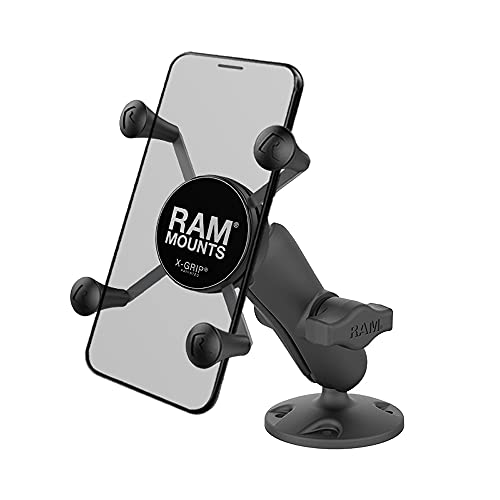 RAM MOUNTS X-Grip High-Strength Composite Phone Mount with Drill-Down Base