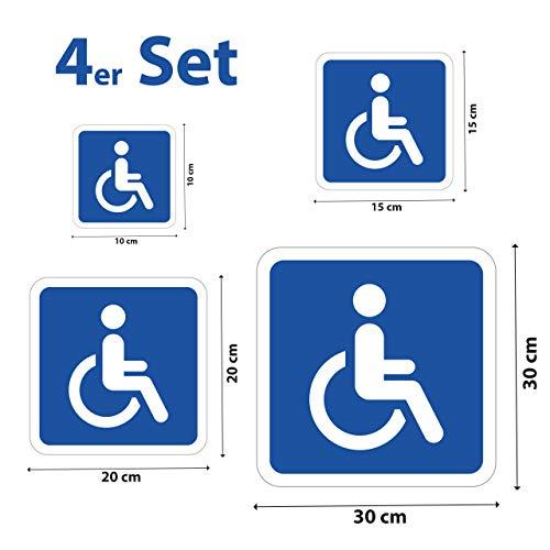 STROBO handicap rolstoelbestuurder magneetfolie autoschild invalid bord