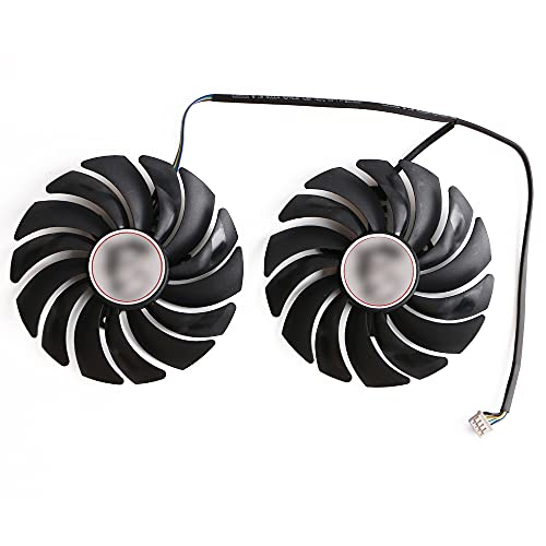 icepc Graphics Card Cooling Fan,95mm,PLD10010S12HH,DC 12V,for MSI GTX 1060/1070/1080 Ti Gaming X,for MSI RX 470/480/570/580 Gaming X,Video Card Cooler