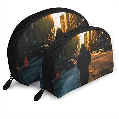 Mooie rugzak in de Sunset Cosmetic Bag Portable Bags Professional CosMotivc Case 2 Packs Make-up Bag voor vrouwen en meisjes