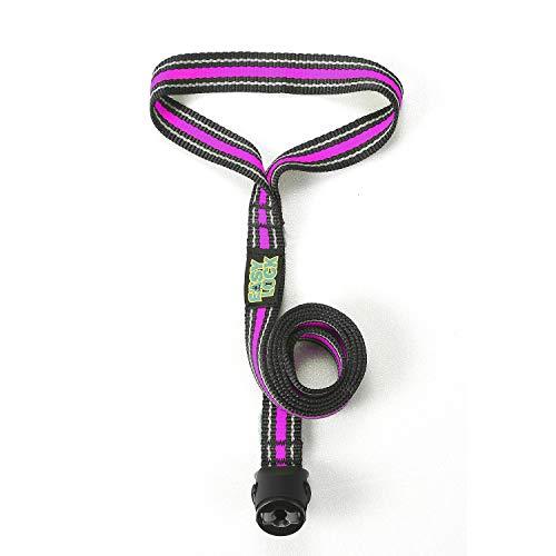 Easy Lock Hundeleine, einhändig anzuschließen, für kleine, mittelgroße und große Hunde, 360° Magnetverschluss, Magenta, L
