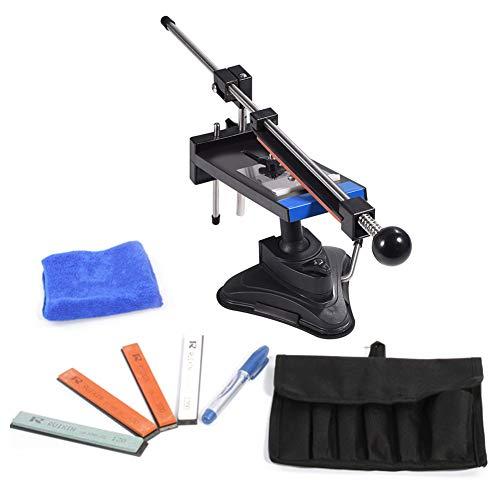Upgraded Küchen Messerschärfer Sharpemaker Kits Professionelle Küchenmesser Schärfsteine Fixed Winkel Sharpener mit 4 Schleifsteinen