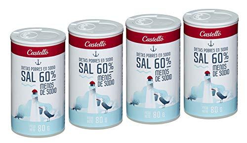 Castelló Since 1907 Sal 60% menos de Sodio - Paquete de 4 x 80 gr - Total: 320 gr