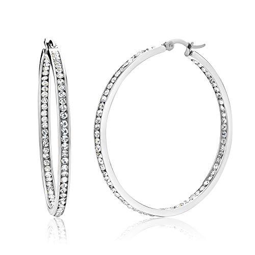 Cubic Zirconia Faux Earrings - 7