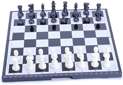 GXY Schach-Set-Spiele Reisebranchen Magnetische Reiseschach-Set Mit Faltender Kunststoffschachbrett Pädagogisches Spielzeug Für Kinder Und Erwachsene Spiel Dediziertes Schach-Set,B-5.
