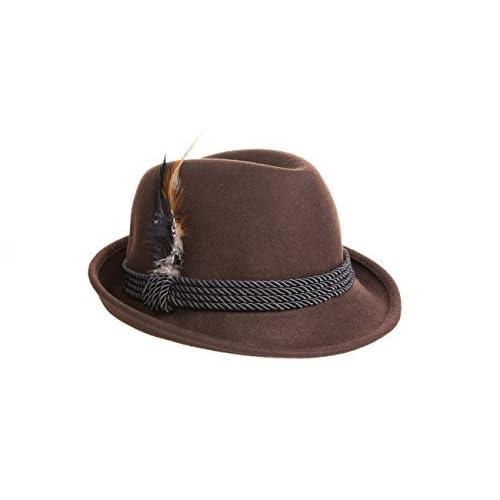 7fdb6c06900 Holiday Oktoberfest Wool Bavarian Alpine Hat - Brown Color - Size Extra  Large (XL)