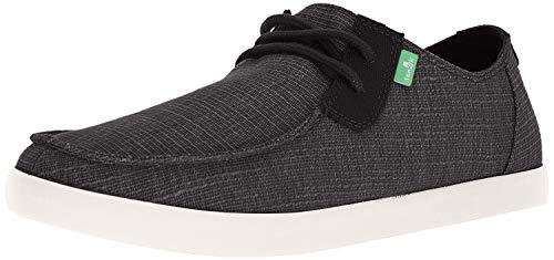 Sanuk Men's NU-NAMI GRAIN SLUB Sneaker, Black, 08.5 M US
