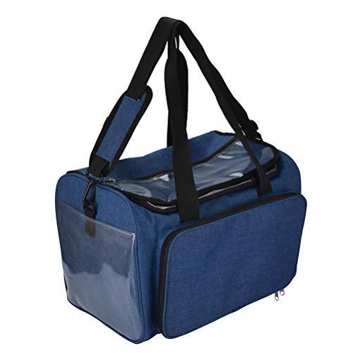 TOPBATHY DIY Gro?e Wolle Aufbewahrungstasche DIY H?keln Aufbewahrungsbox Organizer Stricken Ball Bag (Blau)