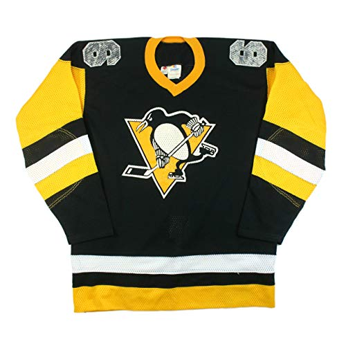 MID 1980'S MARIO LEMIEUX PITTSBURGH PENGUINS ROOKIE ERA TEAM ISSUE GAME JERSEY