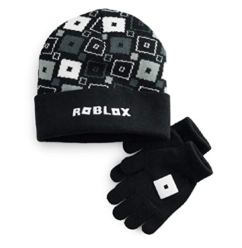 Boy's Roblox Winter Knit Beanie Hat and Glove Cold Weather Set
