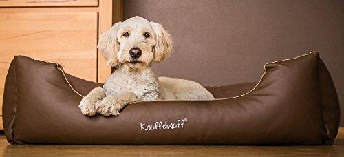 Knuffelwuff 13114 Leder-Velour Hundebett Ray - Größe 3XL, 155 cm x 105 cm