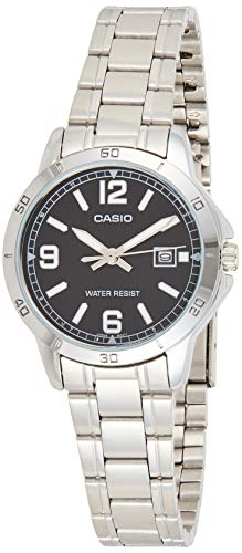 Casio LTP-V004D-1B2UDF Analog Quartz Silver Stainless Steel Women's Watch