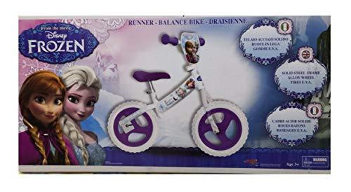 r Frozen Runner Balance Bike - biciletta 12 Senza Pedali per Bambini - Peso Fino a 30 kg. - Colore Celeste/Viola/Bianca