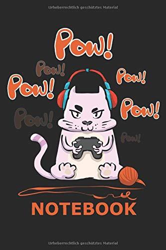 Pow! Pow! Pow! Notebook: 120 Seiten Liniertes Notizbuch für Gamer Zocker Trainingshandbuch,Spieleliebhaber Punktebuch oder Gaming-Fan Journal für Männer und Frauen