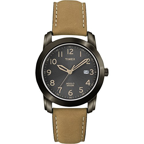 Timex Men's T2P133 Highland Street Tan Leather Strap Watch