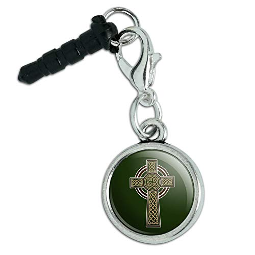 Celtic Christian Cross Irish Ireland Mobile Cell Phone Headphone Jack Charm fits iPhone iPod Galaxy