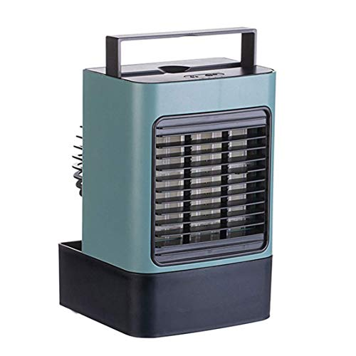 Aire acondicionado portátil Unidad acondicionado Aire acondicionado portátil Mini USB portátil de aire del ventilador del acondicionador Carga pequeño ventilador de escritorio yqaae ( Color : Green )