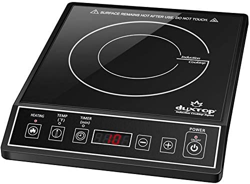 Duxtop 1800W Portable Induction Cooktop Countertop Burner, Black 9100MC/BT-M20B