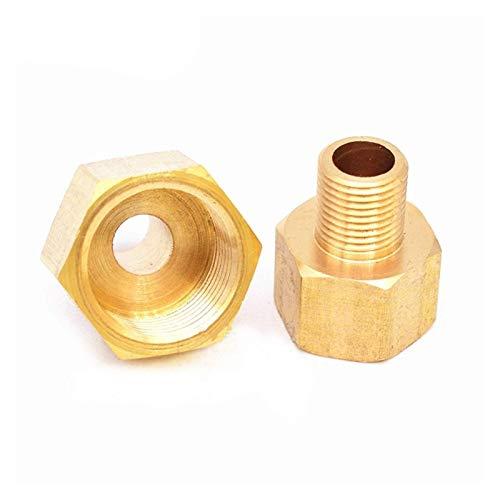 Junta de tubería F/M 1/8'1/4' 3/8'1/2 PT Macho a Hembra Rosca Hexagonal Buje Accesorios de tubería, Accesorios de tubería de Manguera de latón, Fácil de conectar (Tamaño: DN20 Hembra, Especificac