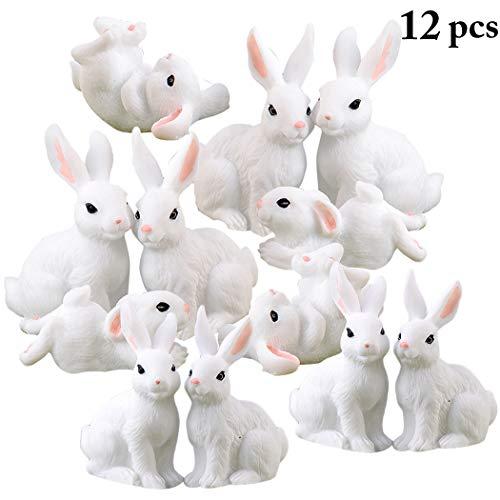 FunPa Easter Micro Landscape, Decorazione in Miniatura Micro Coniglietto di Ornamento in Miniatura di Pasqua