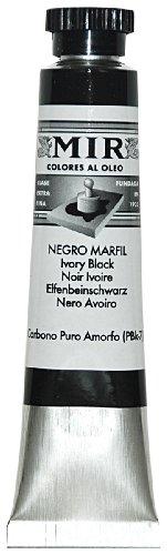 PINTURA OLEO MIR 20 ML. COLOR NEGRO MARFIL