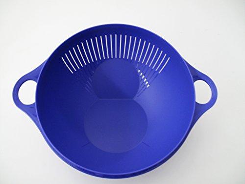 TUPPERWARE Rührschüssel Maximilian 3,75 L blau Sieb