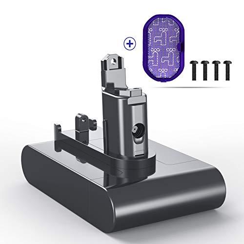 BuTure 3000mAh Type B Replacement Dyson Batterie 22.2V LI-ION Batterie pour Dyson DC34 DC45 DC35 DC31 DC44 Aspirateur Avec 1 élément filtrant et 4 vis (Pas Type A)