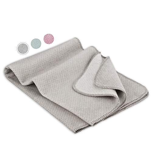 kids&me flauschige Baumwolldecke (kbA) für Babys - Das ideale Geburtsgeschenk für Baby und Mama - aus 100% Bio-Baumwolle - Babydecke Made in Germany