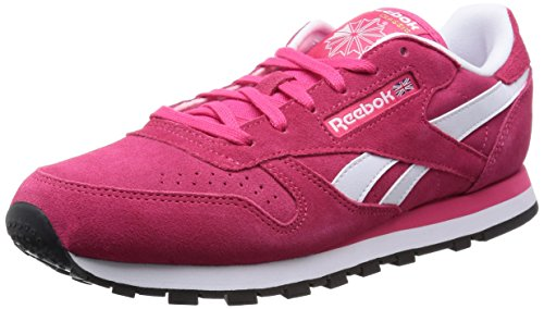 Reebok Classic Leather Suede, Damen Sneakers, Rot (Blazing Pink/White/Black/Gold Met), EU 37 (UK 4 / US 6.5)