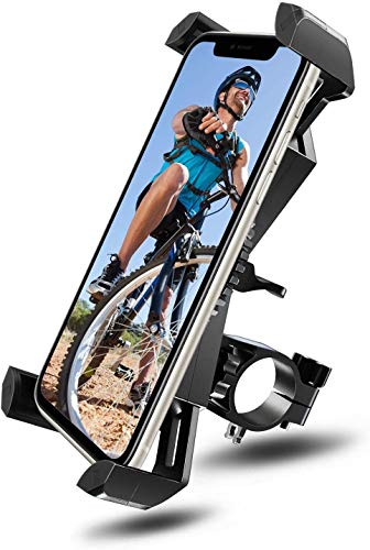 Amoner Bike Phone Holder Sport Gadget Mount, Universal 360° Rotatable Bicycle,Motorbike,Mountain Bike,Road Bike for Most 3.5'-6.5' Smart Mobile Phones and GPS devices