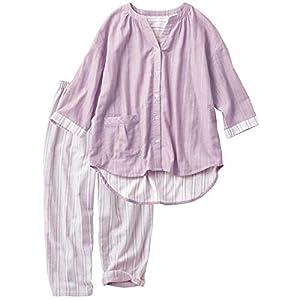 [セシール] ルームウェア ダブルガーゼの巣ごもりゆったりパジャマ 綿100% レディース ミスティピンク 日本 3L (日本サイズ3L相当)