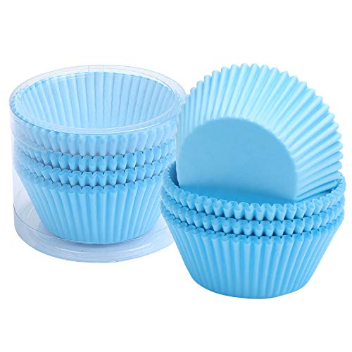 TsunNee Cupcake-Förmchen, Papier-Backförmchen, Cupcake-Förmchen, Muffin-Backförmchen, 7 cm, Blau, 200 Stück