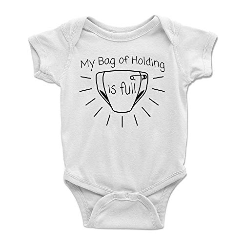 My Bag of Holding is Full Dungeons and Dragons Baby Bodysuit - 100% Soft Cotton ONESIE - Awesome Roleplaying Gift Idea For Dungeon Masters, Player Characters, Friends, Him or Her