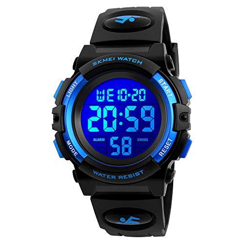 Kids Watch, Boys Sports Digital Waterproof Led Watches with Alarm Wrist Watches for Boy Girls Children Watch B