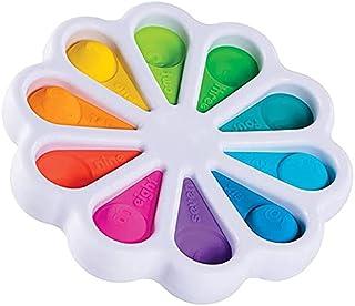 Flower Fidget Toys Simple Dimple Fidget Toy Number Learning Pop Popper Toys for Kids Stress Relief Anti-Anxiety Sensory Fidget Hand Toys for Children Men Women (White)
