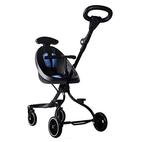 Takimi ハンディーキッズスクーター 両対面ベビーカー バギー 超軽量 5.2kg ハンドル調節可能 折りたたむ (半囲み)