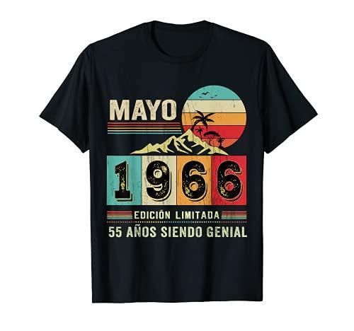 Nacido en Mayo de 1966 55 Años Cumpleaños Regalo para hombre Camiseta